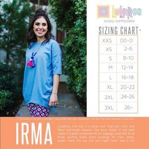 LuLaRoe Tops - NWOT XXS lularoe Irma